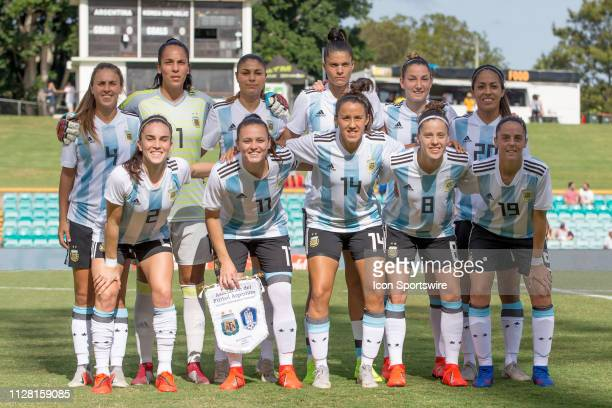Argentina team photo at The Cup of Nations womens soccer match between Argentina and Korea Republic on February 28 2019 at Leichhardt Oval NSW