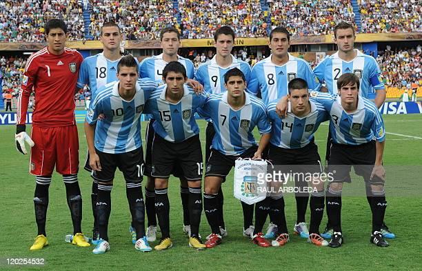Argentina U20 national football team players Esteban Andrada Leandro Gonzalez Hugo Nervo Facundo Ferreyra Roberto Pereyra German Pezzella Erik Lamela...
