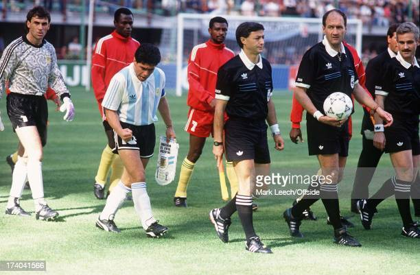 Argentina v Cameroun World Cup Milan Diego Maradona fires himself up before the game
