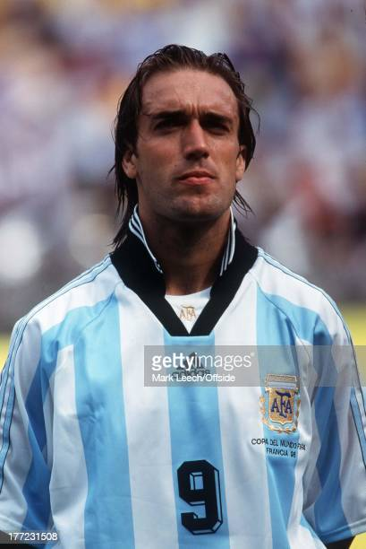 Argentina v Jamaica World Cup '98 Gabriel Batistuta