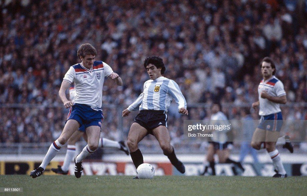 Diego Maradona At Wembley : News Photo