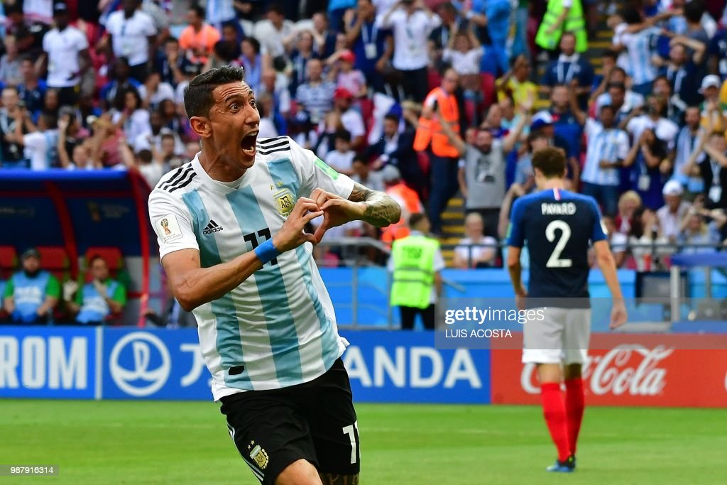 TOPSHOT-FBL-WC-2018-MATCH50-FRA-ARG : News Photo