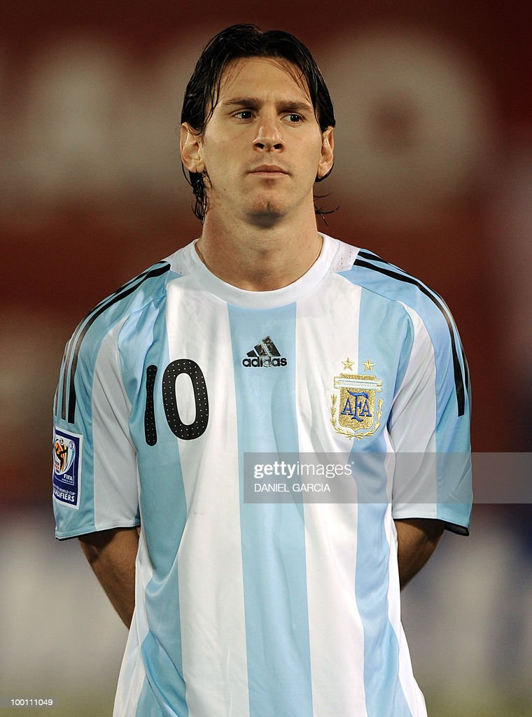 Argentina's forward Lionel Messi at Defensores del Chaco stadium in Asuncion, Paraguay, on September 9, 2009.