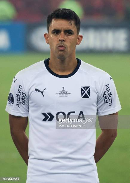 Argentina's Independiente player Diego Rodriguez Berrini is pictured before the start of their Copa Sudamericana final football match against...