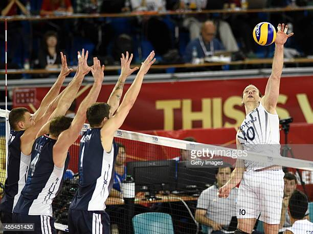 Argentina's Jose Luis Gonzalez during the FIVB World Championships match between Argentina and USA on Septembert 14 2014 in Bydgoszcz Poland
