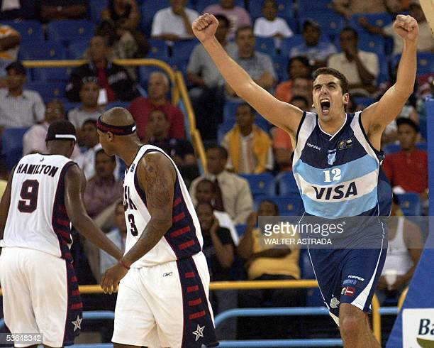 Argentina's Juan Gutierrez celebrates a point against United States during their second round's match at the qualifying tournament of the Americas...