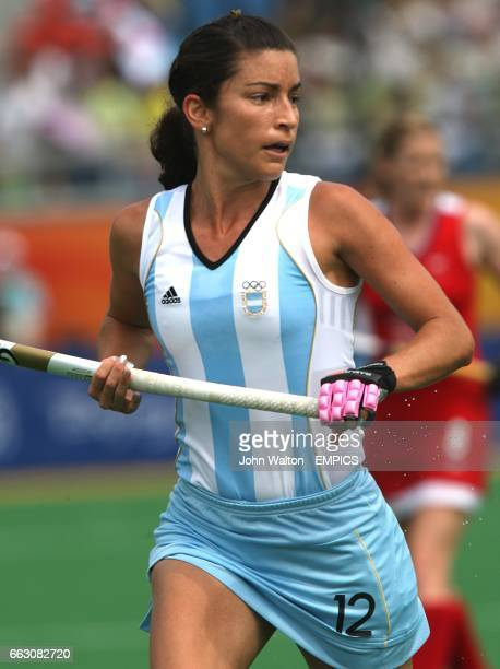 Argentina's Mariana Gonzalez Olivia during the Women's Pool WB Match W07 against Great Britain at the Olympic Green Hockey Stadium during the fourth...