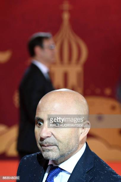 Argentina's national football team coach Jorge Sampaoli arrives to attend the Final Draw for the 2018 FIFA World Cup football tournament at the State...