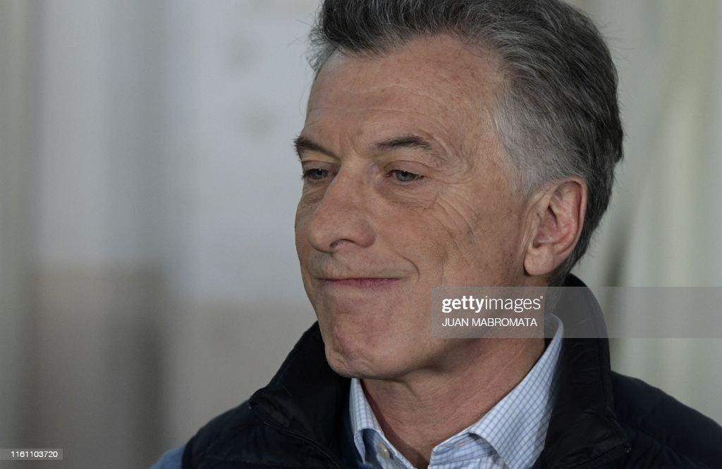 ARGENTINA-PRIMARY-ELECTIONS-MACRI : News Photo