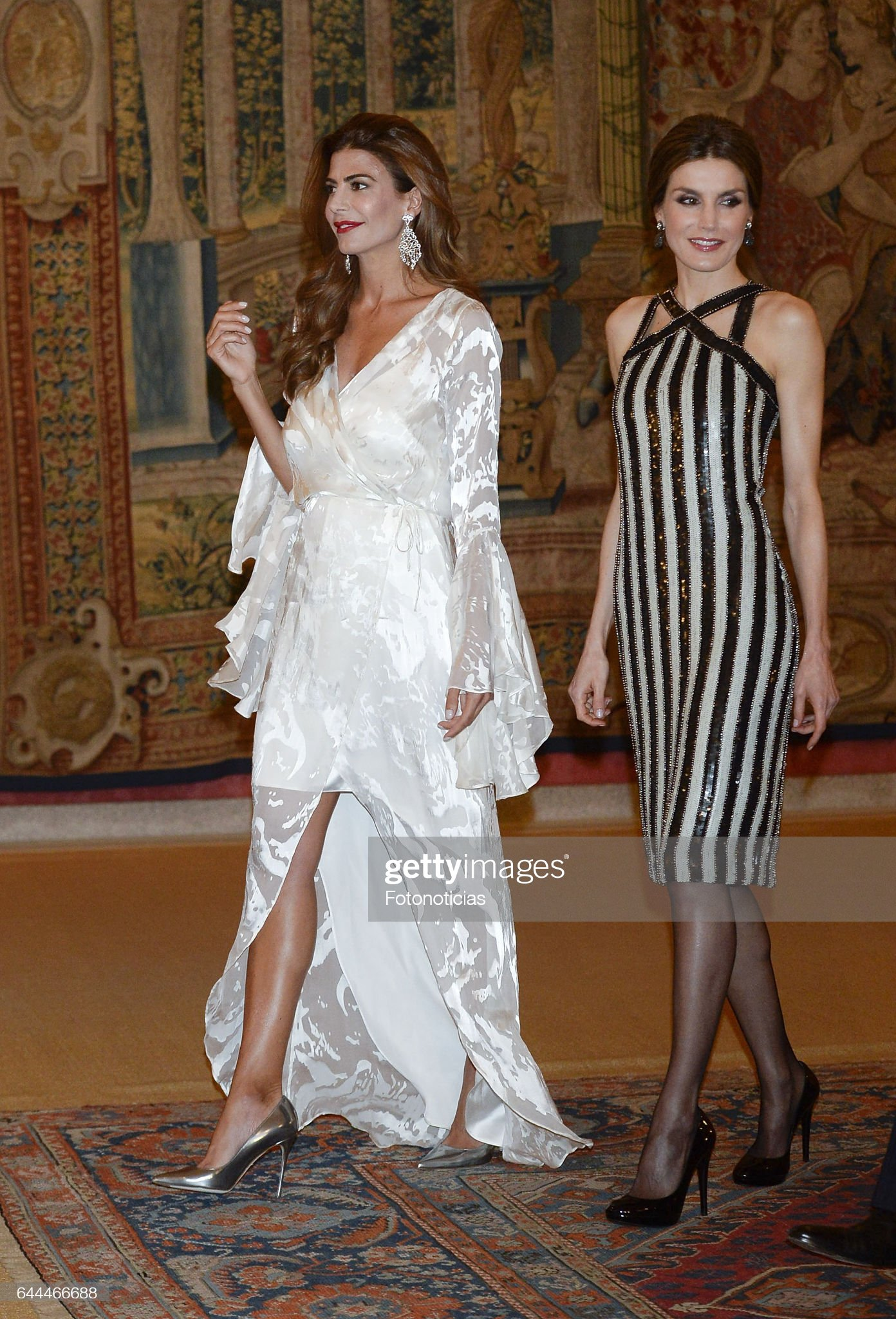 Argentina's President and His Wife Host A Reception For Spanish Royals : News Photo