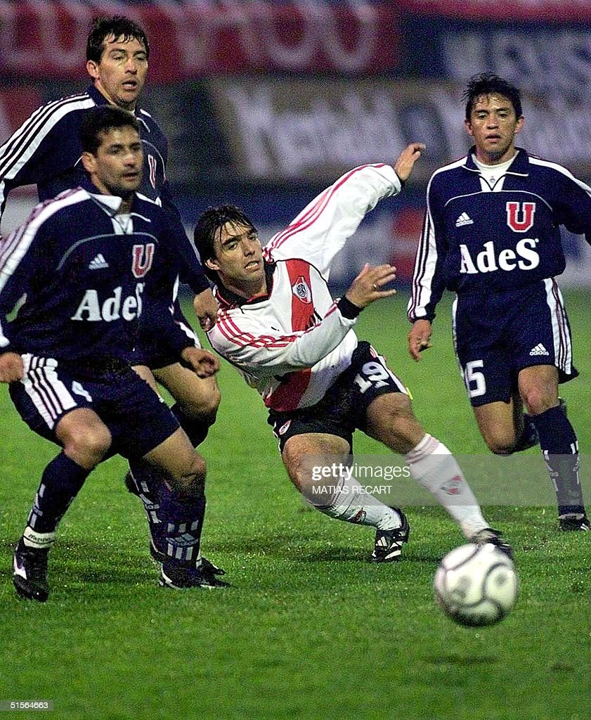Argentina S River Plate Player Martin Cardetti Chases The Ball With
