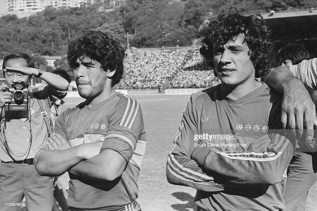 Argentina's soccer superstar Diego Maradona of Boca Juniors with his...  News Photo - Getty Images