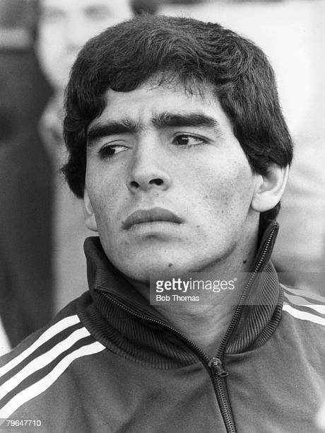 Argentina's young star Diego Maradona 6th June 1979