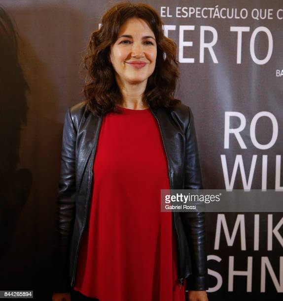 Argentine actress Andrea Bonelli poses for a photo during the Opening Night of the play 'Letter to a Man' at Teatro Coliseo on September 7 2017 in...