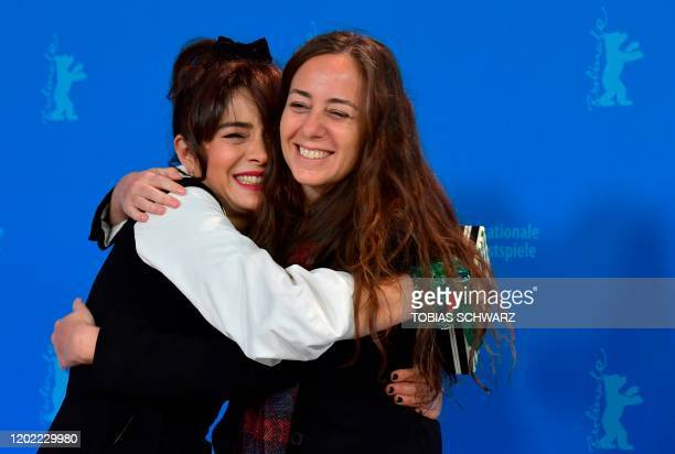 Argentine actress Erica Rivas and Argentine director Natalia Meta pose during a photocall for the film El Profugo screened in competition at the 70th...