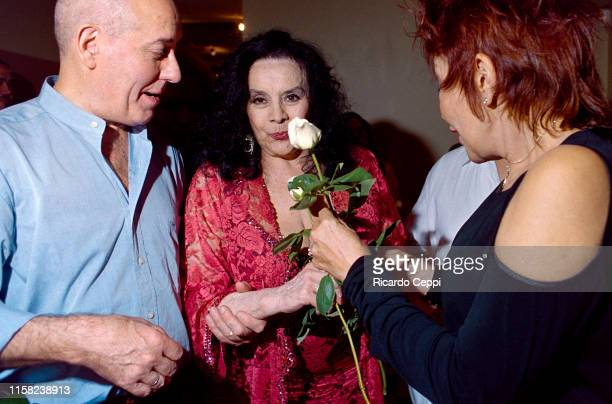 Argentine actress Isabel Sarli attends the 'Gogó' inauguration party on March 23 2004 in Buenos Aires Argentina