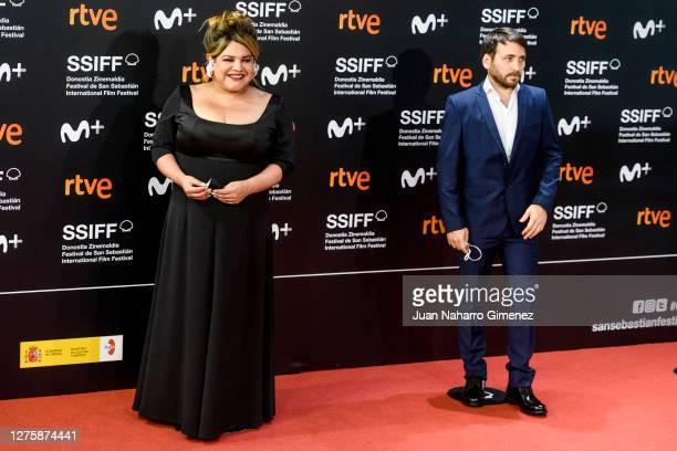 Argentine actress Romina Escobar and Eduardo Crespo attend 'Nosotros Nunca Moriremos' premiere during the 68th San Sebastian International Film...