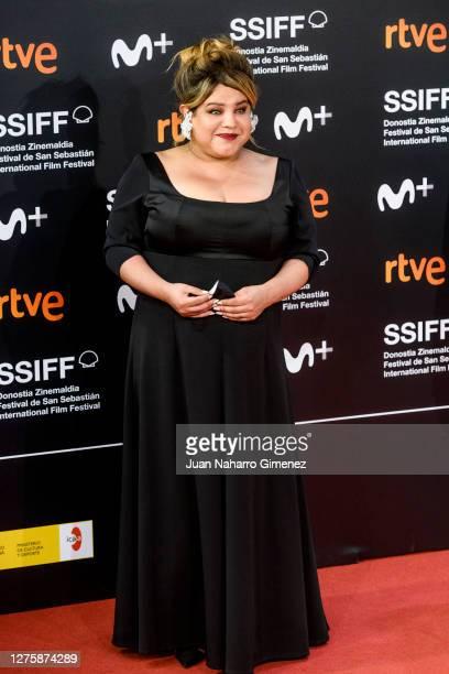 Argentine actress Romina Escobar attends 'Nosotros Nunca Moriremos' premiere during the 68th San Sebastian International Film Festival at the Kursaal...