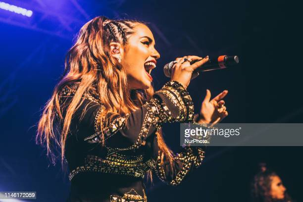 Argentine actress singer dancer model and songwriter Lali performs live at Magazzini Generali in Milano Italy on April 09 2017