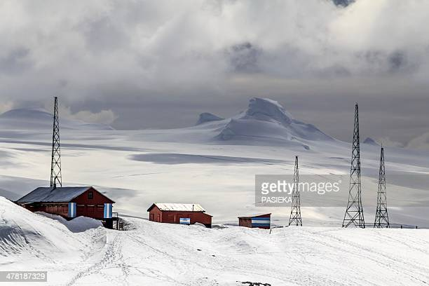 argentine base, antarctica - place of research stock pictures, royalty-free photos & images