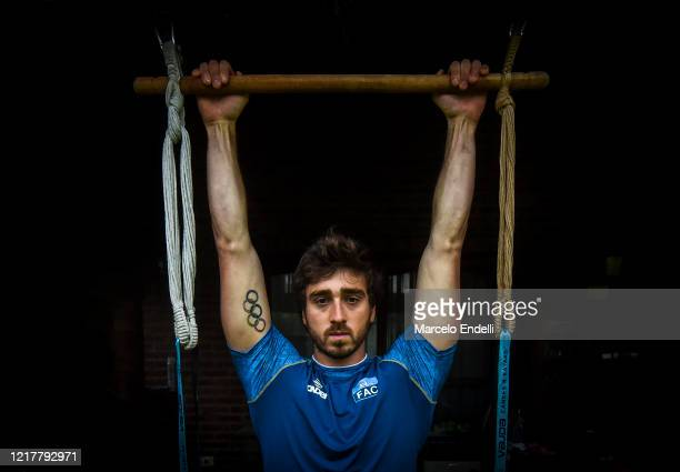 Argentine canoeist Sebastian Rossi trains in isolation at his fatherinlaw's home on June 3 2020 in Pilar Buenos AiresArgentina Rossi who is seeking...