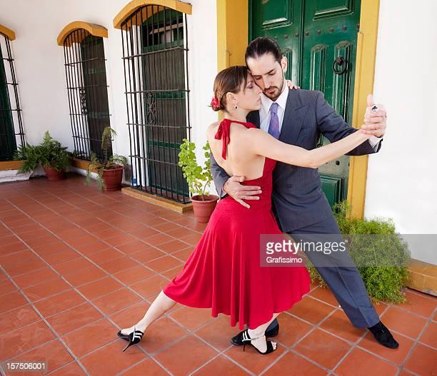 Argentinischer paar Tanzen tango in Buenos Aires