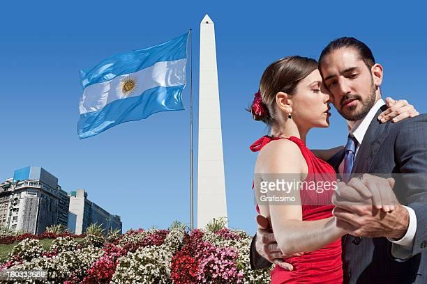 Pareja de baile de tango argentino en Buenos Aires