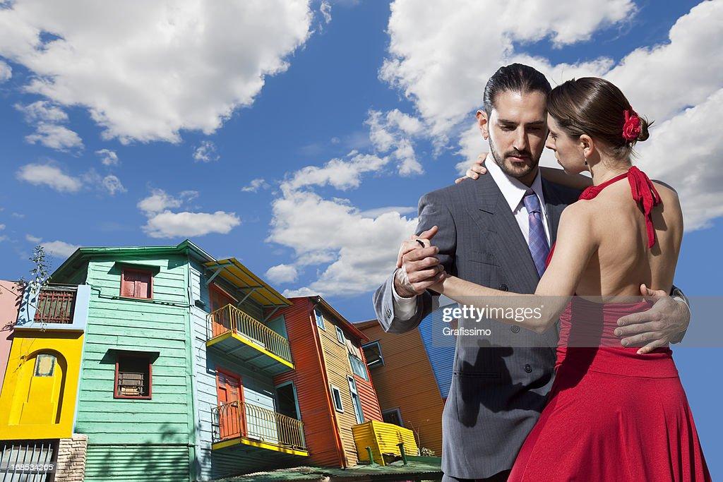 Argentinischer paar Tanzen tango in Buenos Aires : Stock-Foto