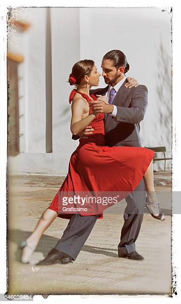 argentine couple dancing tango in buenos aires - argentina stock pictures, royalty-free photos & images