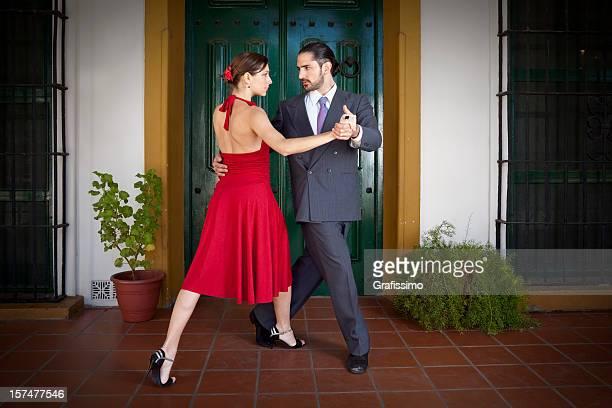 Argentine couple dancing tango