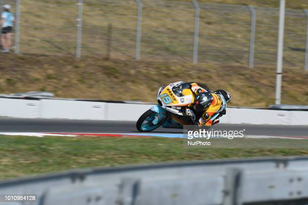 19 Argentine driver Gabriel Rodrigo of Team RBA BOE Skull Rider during free practice for Czech Republic Grand Prix in Brno Circuit on August 4 2018...