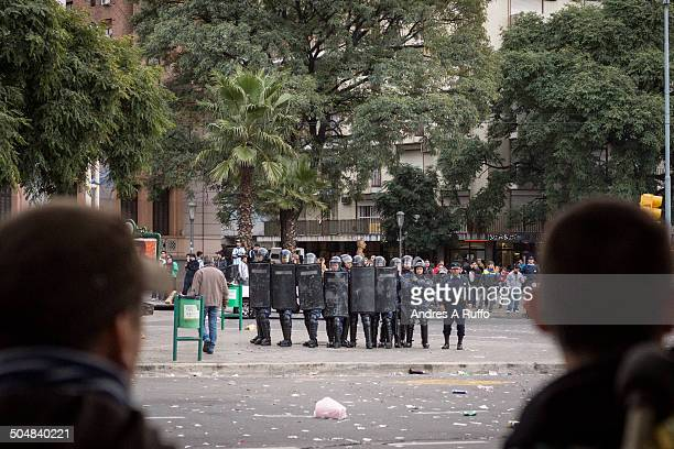 CONTENT] Cordoba Argentina July 1 2014 Argentine fans celebrate in the center of the city and rioting with the police after the match against...