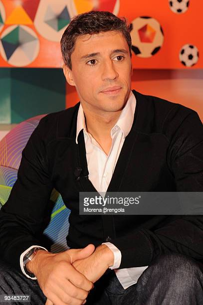 Argentine football player Hernan Crespo during Italian show 'Quelli che il calcio' on November 29 2009 in Milan Italy