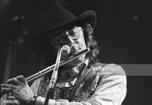 Argentine jazz saxophonist and composer Gato Barbieri performing at Jazzclub Montmartre Copenhagen Denmark 1973