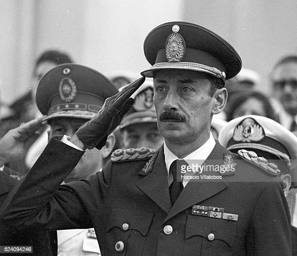Argentine military dictator Jorge Rafael Videla in Asunci-n, Paraguay. It was under Videla's rule that up to 30,000 people went missing in Argentina.