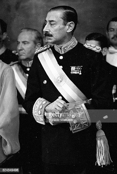 Argentine Military Dictator Jorge Rafael Videla in Asuncin Paraguay April 1977 It was under Videla's rule that up to 30000 persons went missing in...