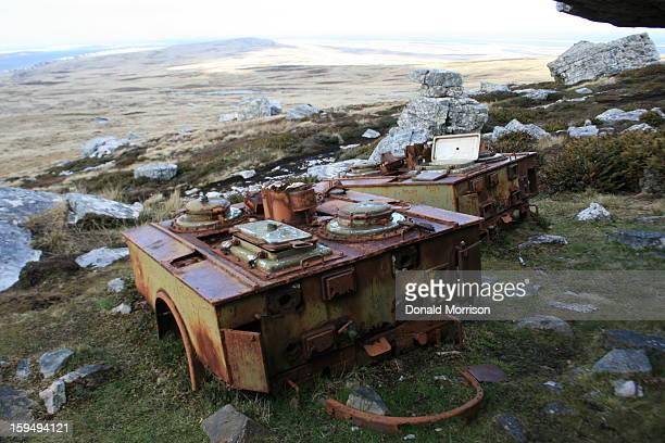 Argentine mobile kitchen on Mt Tumbledown, Falkland Islands
