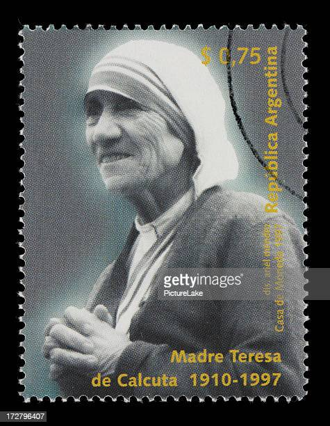 argentine mother teresa stamp - mother teresa stock pictures, royalty-free photos & images