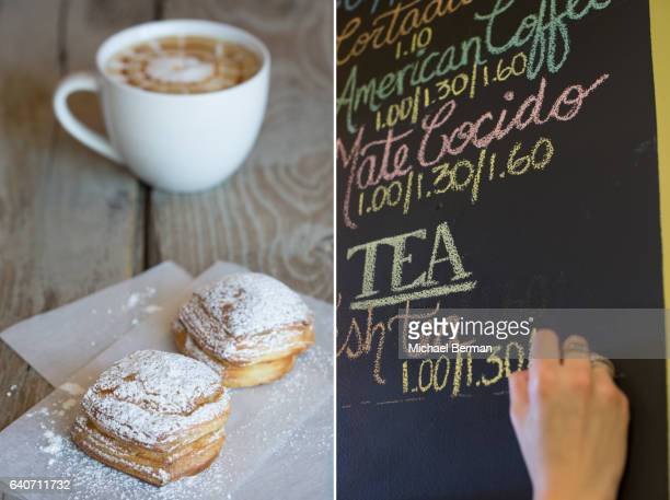 Argentine Pastry and Cappucino