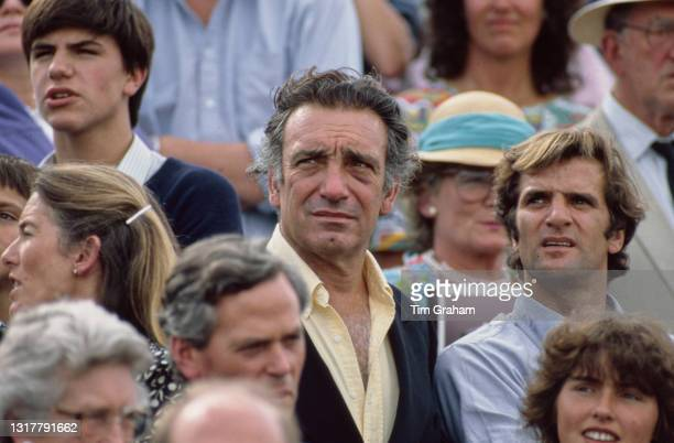 Argentine polo player Hector Barrantes , among unspecified spectators watching an unspecified polo match at Cowdray Park Polo Club in Cowdray Park,...