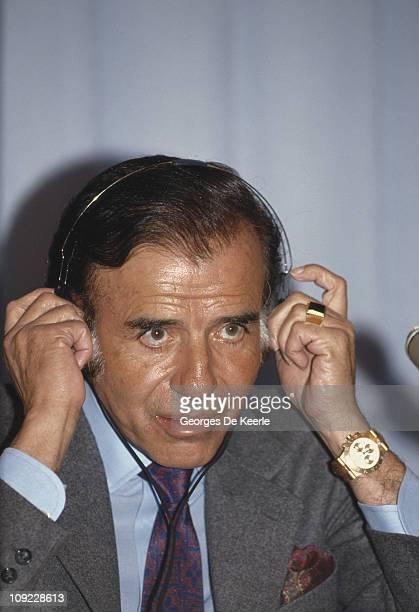Argentine President Carlos Menem Warsaw 23rd October 1990