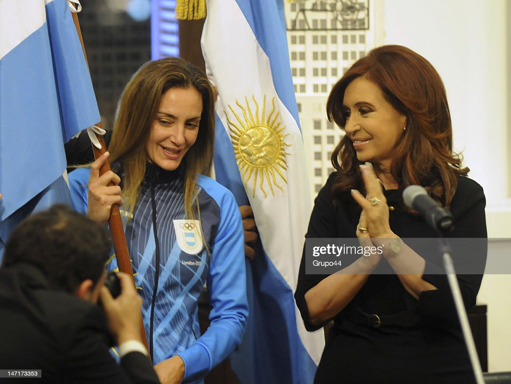 Argentine President Meets Olympic Athletes