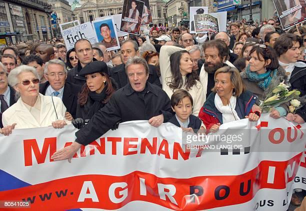 Argentine President Cristina Fernandez de Kirchner French Foreign minister Bernard Kouchner Astrid Betancourt sister of FrenchColombian hostage...