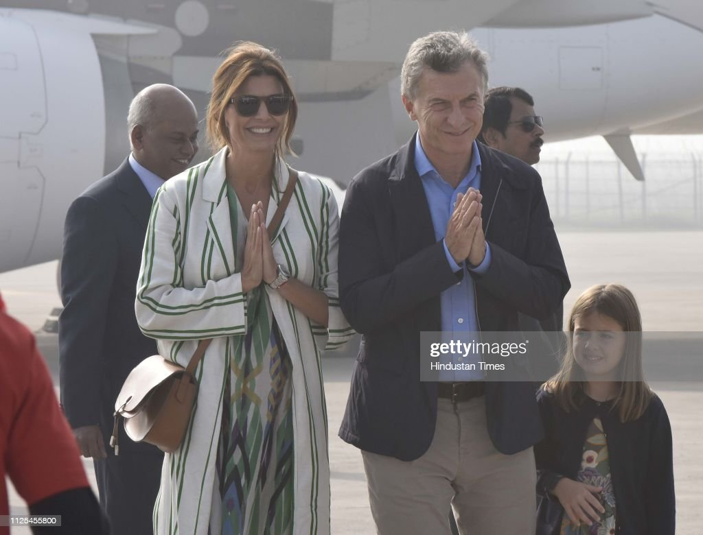 IND: Argentina President Mauricio Macri Arrives In India On 3-Day Visit