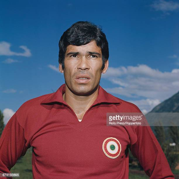 Argentine professional footballer and forward with A C Milan Nestor Combin pictured during a training session in Milan in January 1971