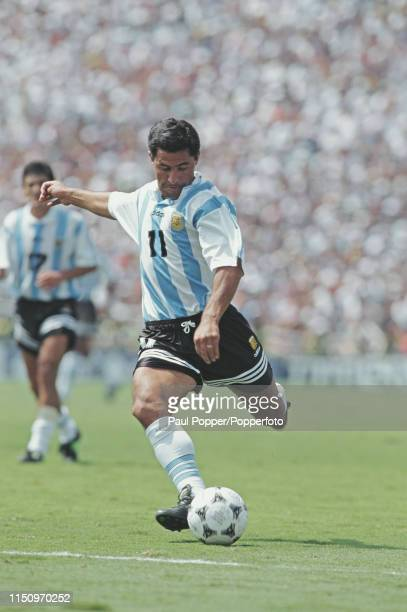 Argentine professional footballer Ramon Medina Bello striker with Yokohama Marinos pictured making a run with the ball during play between Romania...