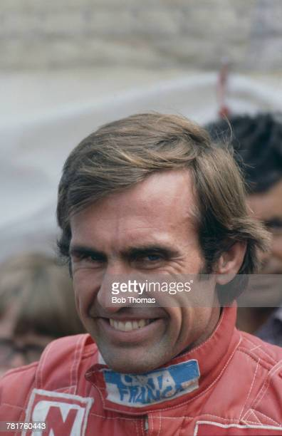 Argentine racing driver Carlos Reutemann driver of the Albilad Williams Racing Team Williams FW07C FordCosworth DFV V8 pictured prior to competing to...