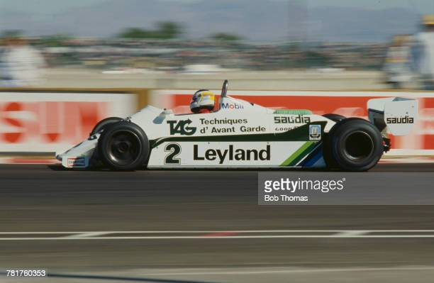 Argentine racing driver Carlos Reutemann drives the Albilad Williams Racing Team Williams FW07C FordCosworth DFV V8 to finish in 8th place in the...