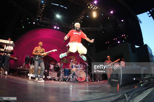 Argentine rasta punk rocker Fidel Nadal opens when Ozomalti performs during the 32nd Celebrate Brooklyn Summer Season at Prospect Park Bandshell on...