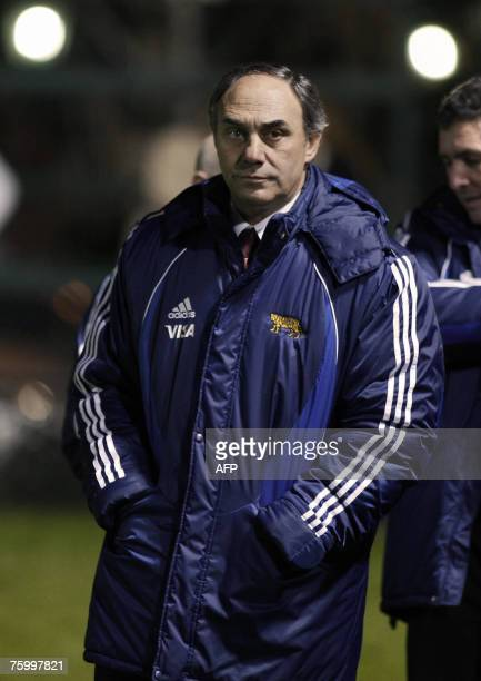 Argentine rugby team coach Marcelo Loffreda during their rugby friendly match against Chile at Club Atletico San Isidro field in Buenos Aires...
